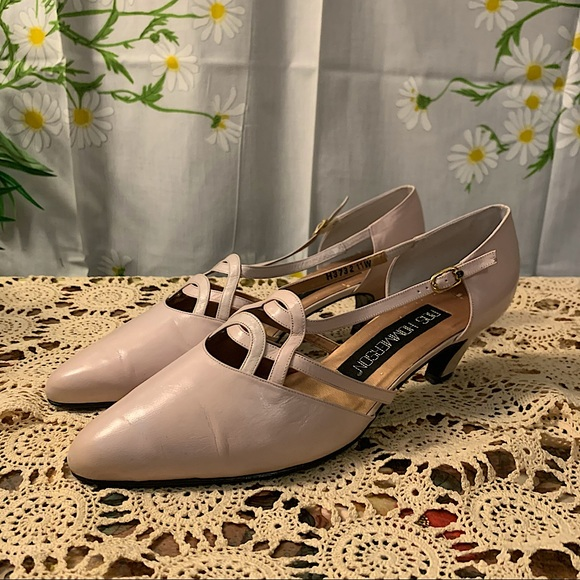 Ros Hommerson strappy low heel pointed toe pumps